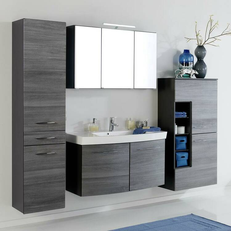 badm bel set florido 03 eiche rauchsilber waschtisch. Black Bedroom Furniture Sets. Home Design Ideas