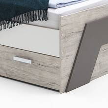 Youth bed LEEDS-10 with 2 drawers, sand oak...
