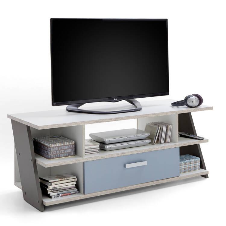 Goede Jugendzimmer Fernsehschrank TV Lowboard LEEDS-10 Sandeiche Nb./weiß/La BS-37