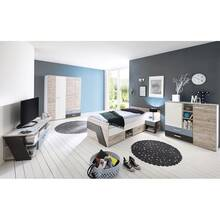 Youth room set boys 5-piece LEEDS-10 in sand oak Nb. with...