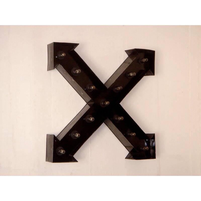 Wandleuchte THIS & THAT-14 62x10,5x62cm schwarz verzinktes Eisen