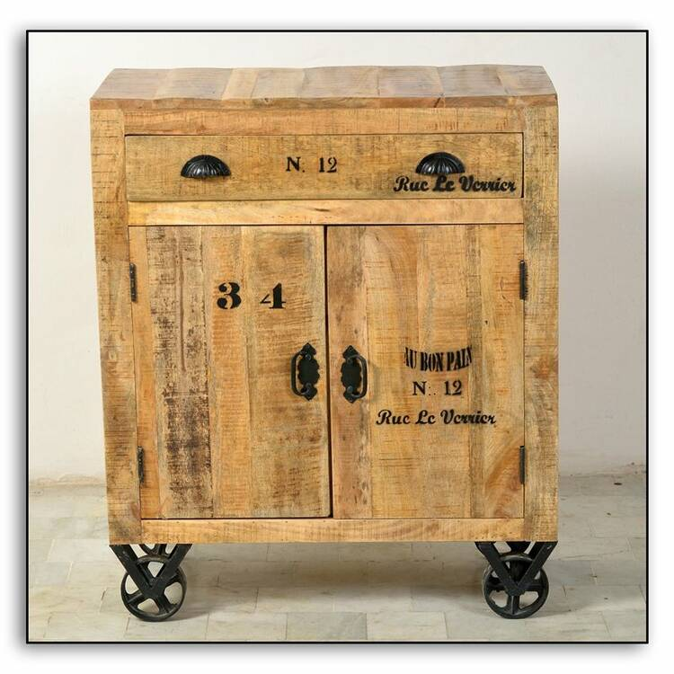 Kommode Rustic 14 80x40x95cm Natur Antik Mit Antiksch