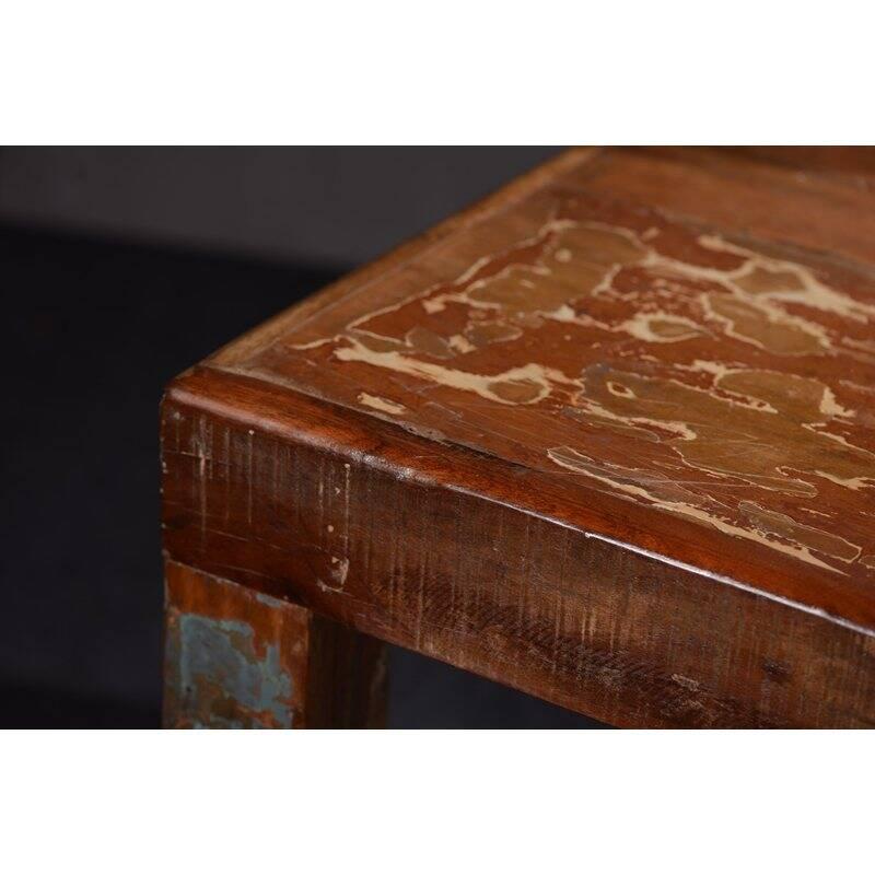 Tisch FRIDGE-14 180x90x76cm bunt Altholz lackiert