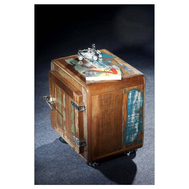 Nachttisch FRIDGE-14 50x38x56cm bunt Altholz lackiert