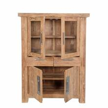 Highboard CORAL-14 115x48x150cm natur recyceltes Teak