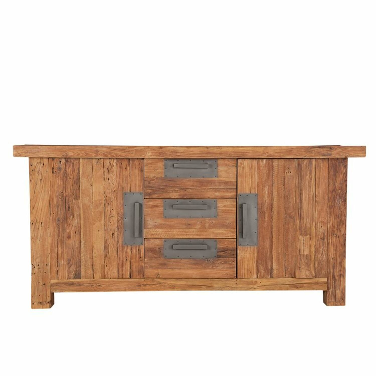 Sideboard CORAL-14 180x45x85cm natur recyceltes Teak