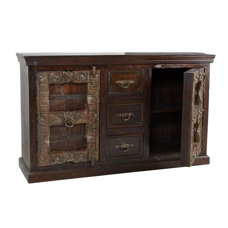 Sideboard ALMIRAH-14 150x45x90cm braun Recyceltes Holz