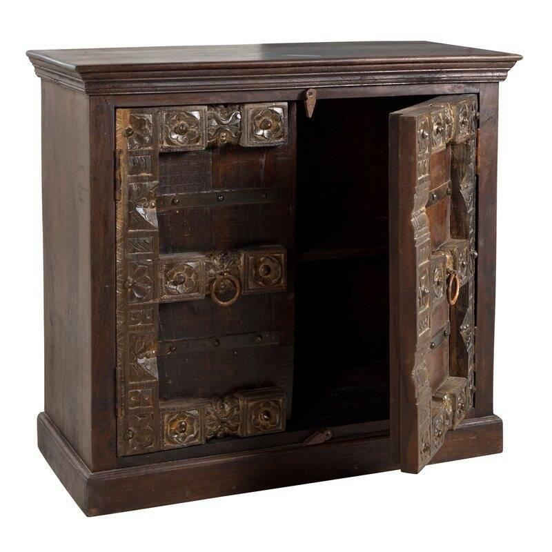 Sideboard ALMIRAH-14 100x45x90cm braun recyceltes Holz,