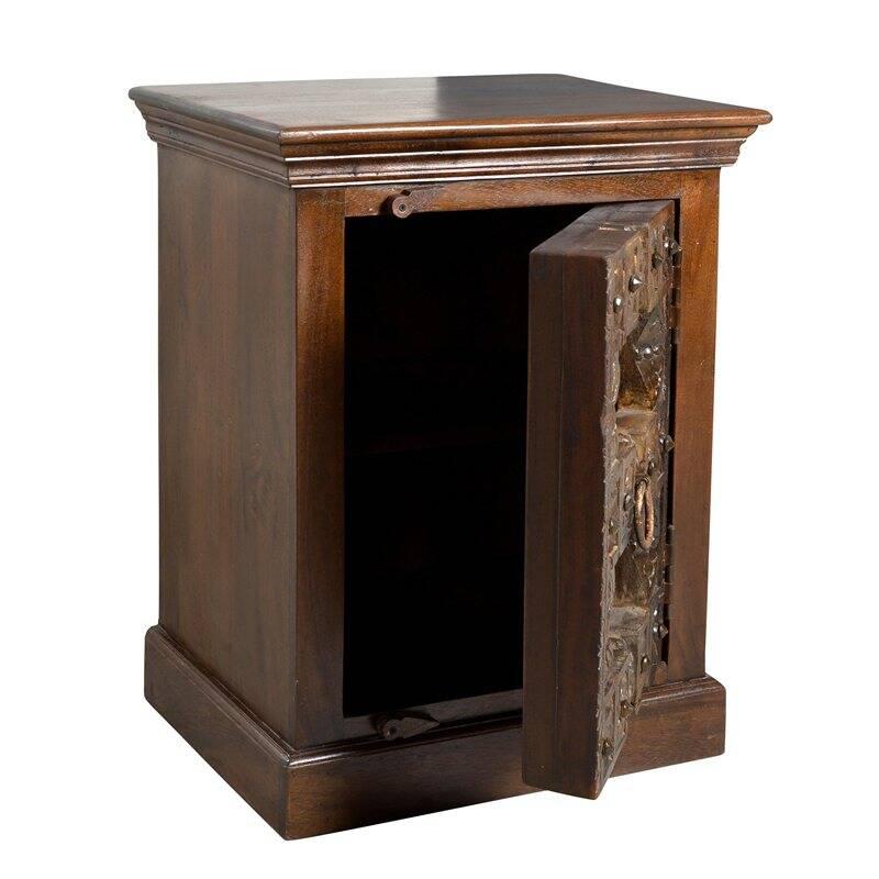 Nachttisch ALMIRAH-14 55x45x70cm braun Recyceltes Holz,