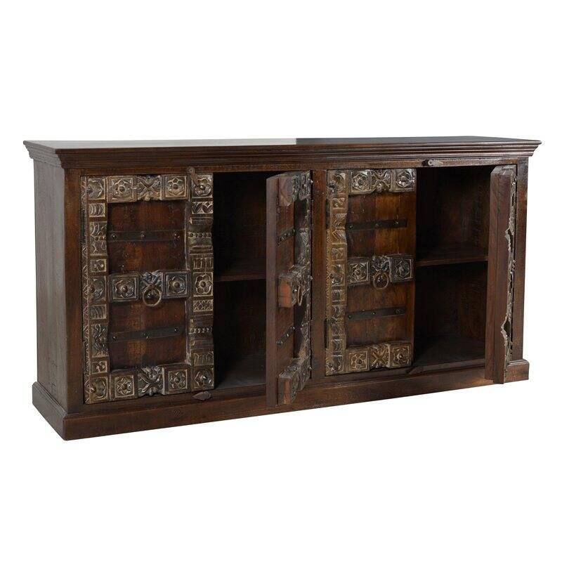 Sideboard ALMIRAH-14 180x45x90cm braun Recyceltes Holz,
