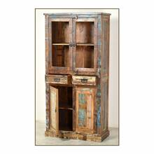 Vitrine RIVERBOAT-14 90x40x180cm bunt Altholz mit starken...