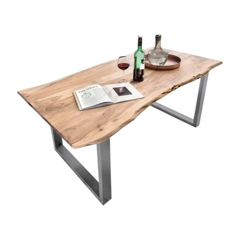 Tisch Akazie Natur Tische 14 220x100x78cm Platte Natur Gestell Antiks