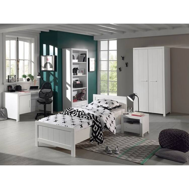 jugendzimmer set cannes 12 wei lackiert kleidersch. Black Bedroom Furniture Sets. Home Design Ideas