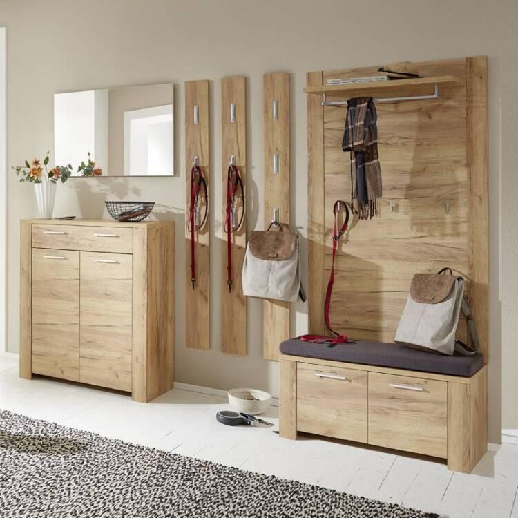 10 garderoben mobel set bilbao 01 eiche navarra mit touchwood mit oder ohne polster