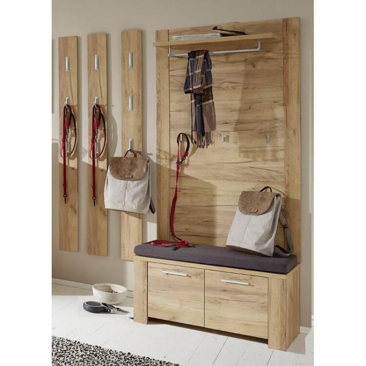 10 garderoben mobel set bilbao 01 5 teilig eiche navarra mit touchwood mit