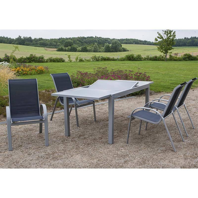 Gartenmöbel Set Marine DENVER-29 5-teilig, Gartentisch und Stühle