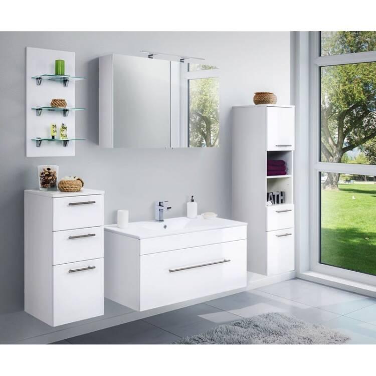 Badezimmer Hochschrank mit 2 Türen LAGOS-02 mit 2 Tür