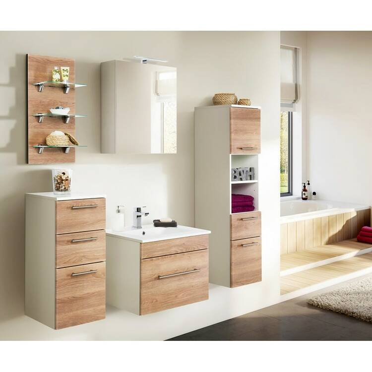 Badezimmer Midischrank mit 2 Schubkästen LAGOS-0
