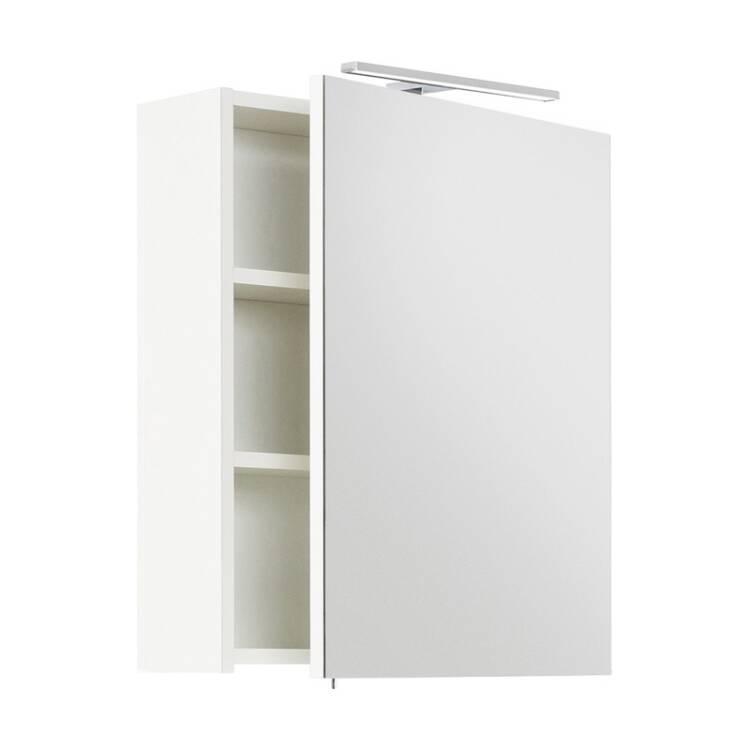 Badezimmer LED Spiegelschrank 55cm LAGOS-02 wei&szlig