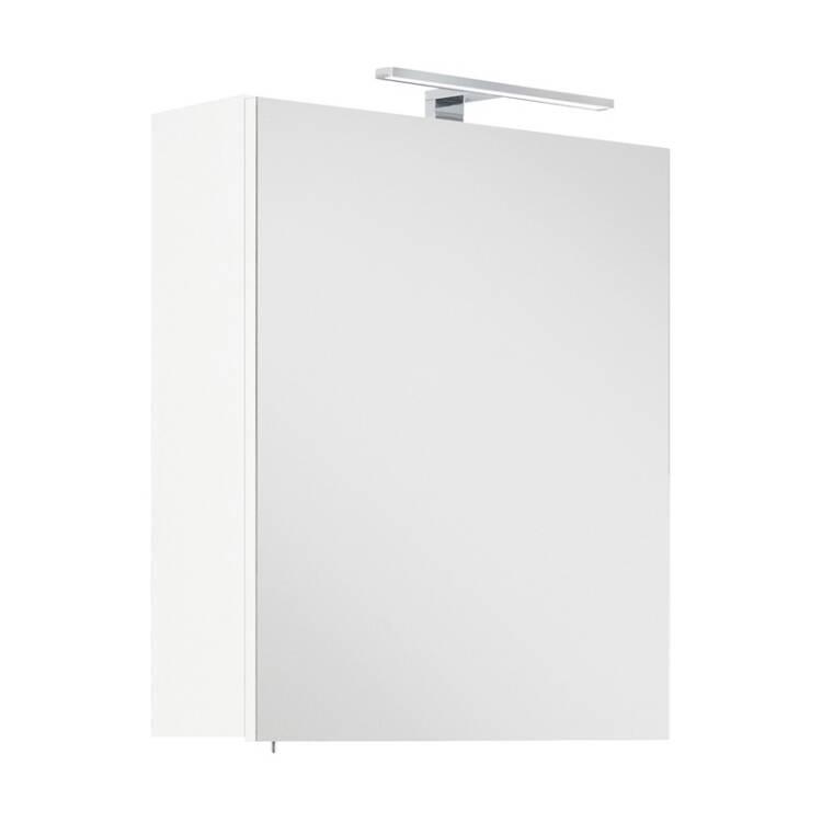 Badezimmer LED Spiegelschrank 55cm LAGOS-02 weiß inkl. LED-Lampe, B x H x T  ca. 55 x 62 x 16,6cm