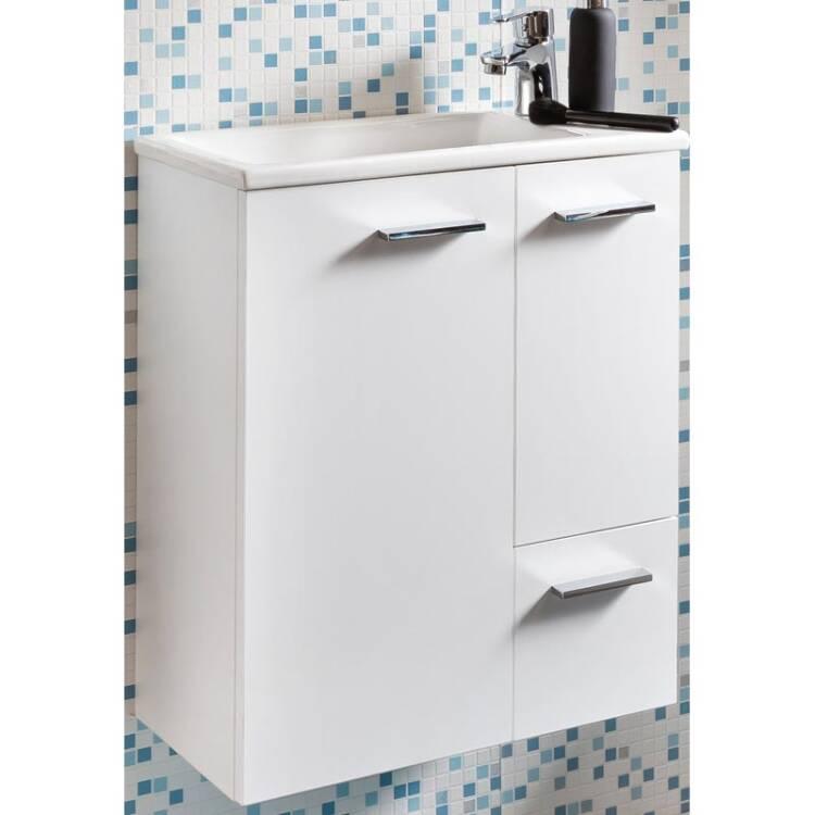 wasschtisch unterschrank mit keramik waschbecken in k. Black Bedroom Furniture Sets. Home Design Ideas
