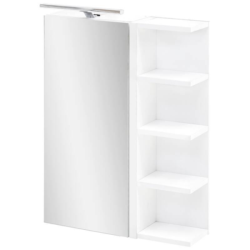 Badezimmer Spiegelschrank mit Regal in weiß B x H x T ca. 50 x 76 x 16 cm MARCEY-04