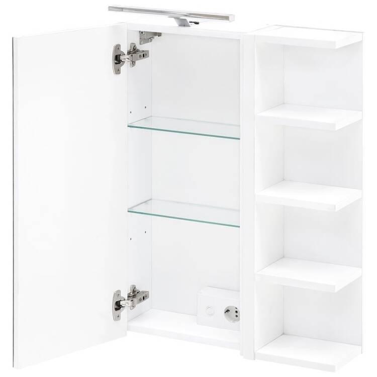 Badezimmer Spiegelschrank Mit Regal In Weiss B X H X T Ca 50 X 76 X 16 Cm Marcey 04