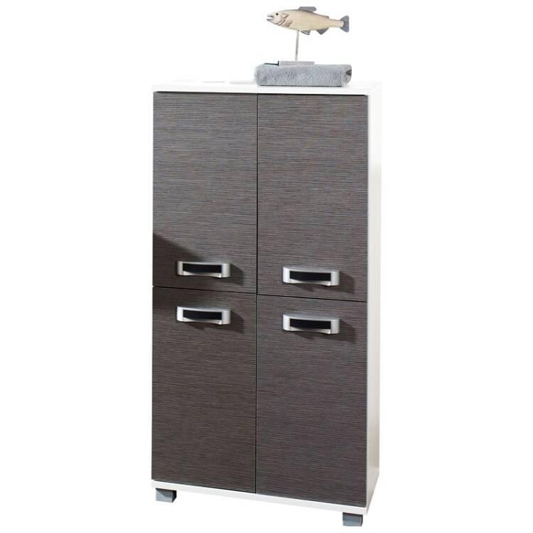 Badezimmer-Möbel Highboard mit 4 Türen CAEN-04, esche