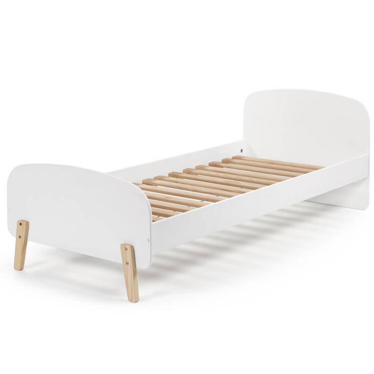 Einzelbett weiß metall  Einzelbett Jugendbett SLIGO-12 90x200 cm Lack wei&szl