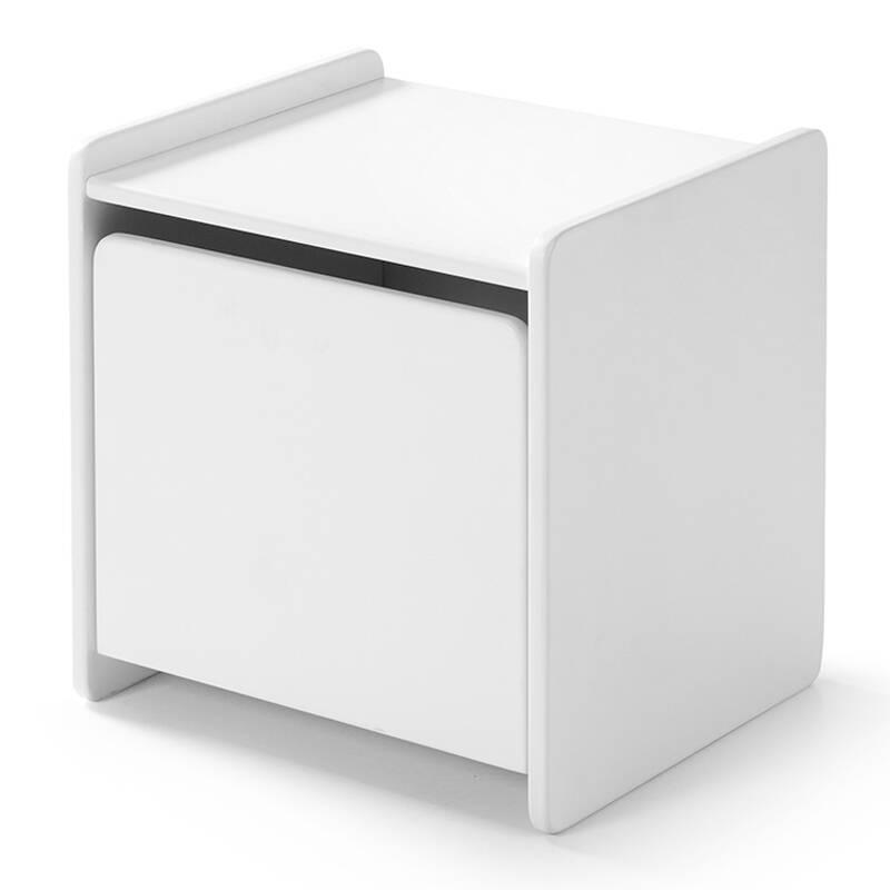 Nachttisch SLIGO-12 mit 1 Tür weiß lackiert B x H x T ca. 40 x 41 x 36cm