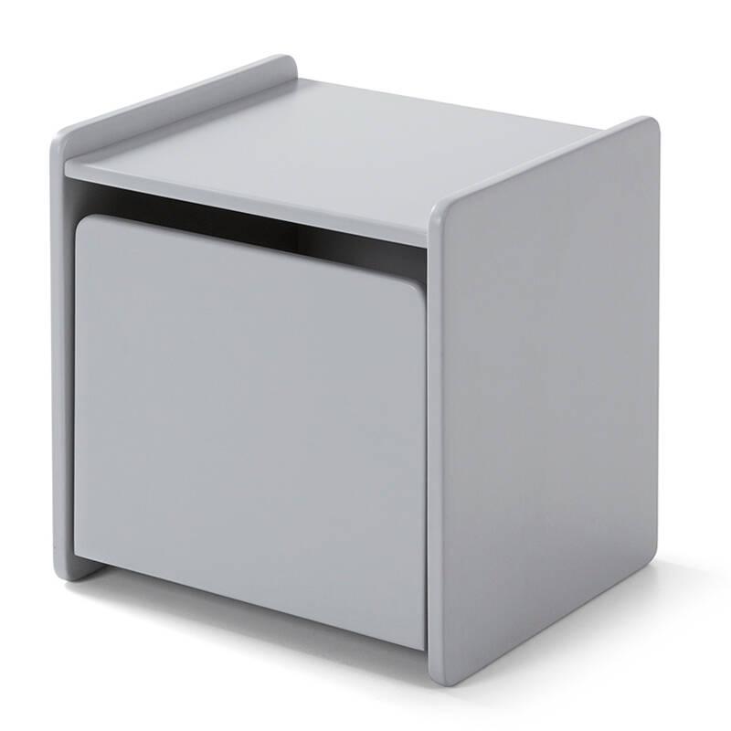 Nachttisch SLIGO-12 mit 1 Tür hellgrau lackiert B x H x T ca. 40 x 41 x 36cm