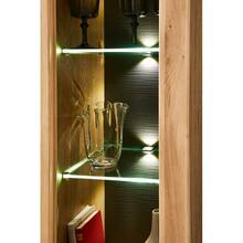 Showcase cabinet incl. LED lighting BOZEN-36 wild oak...