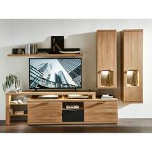 Wall unit with LED lighting in wild oak Bianco BOZEN-36...