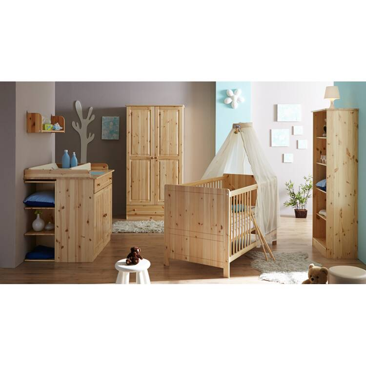 Babyzimmer kinderzimmer standregal luzern 22 kiefer m - Kinderzimmer kiefer massiv ...