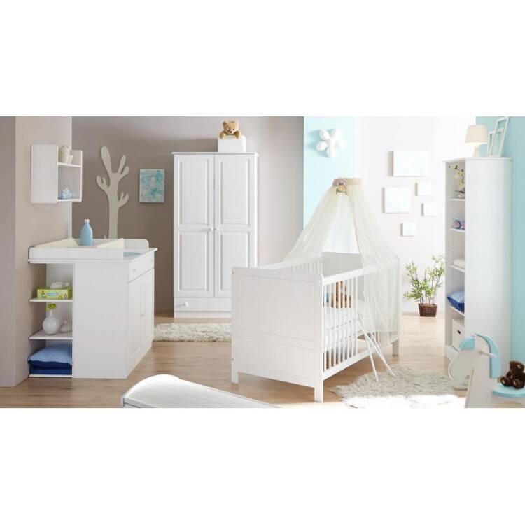 15 babyzimmer komplett luzern 22 massiv wei babybett kleiderschrank wickelkommode mit anstellregal und