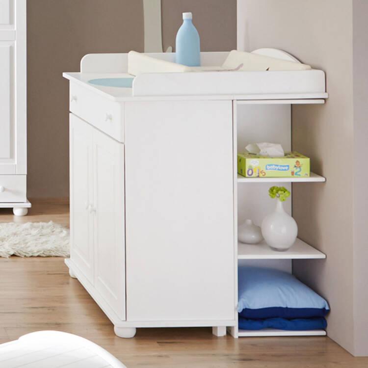 Babyzimmer komplett set weiß  Babyzimmer Komplett Set LUZERN-22 massiv weiß,