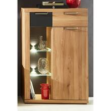 Wall unit with hanging and stand showcase Wild oak with...
