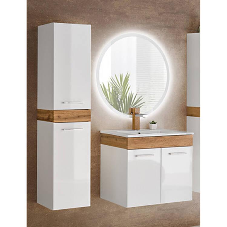 led spiegel rund 80 cm tumba 56 b x h x t ca 80 x 8. Black Bedroom Furniture Sets. Home Design Ideas