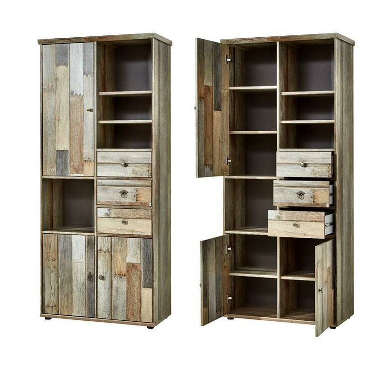 wohnzimmer komplett set driftwood braun industrial de. Black Bedroom Furniture Sets. Home Design Ideas