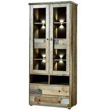 Media Wall unit Driftwood brown Vintage BRANSON-36...