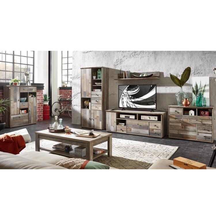 komplett wohnzimmer set inkl couchtisch highboard. Black Bedroom Furniture Sets. Home Design Ideas