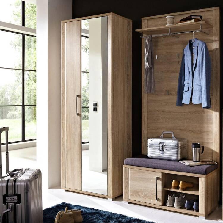 Garderoben set goch 36 dielenschrank mit spiegel schu for Garderoben set mit spiegel