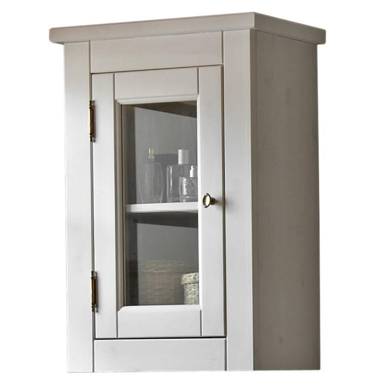 landhaus badezimmer wandschrank h ngeschrank massivho. Black Bedroom Furniture Sets. Home Design Ideas