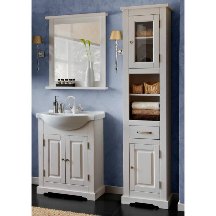 bad m bel set inkl keramik waschtisch 65 cm 3 teilig. Black Bedroom Furniture Sets. Home Design Ideas