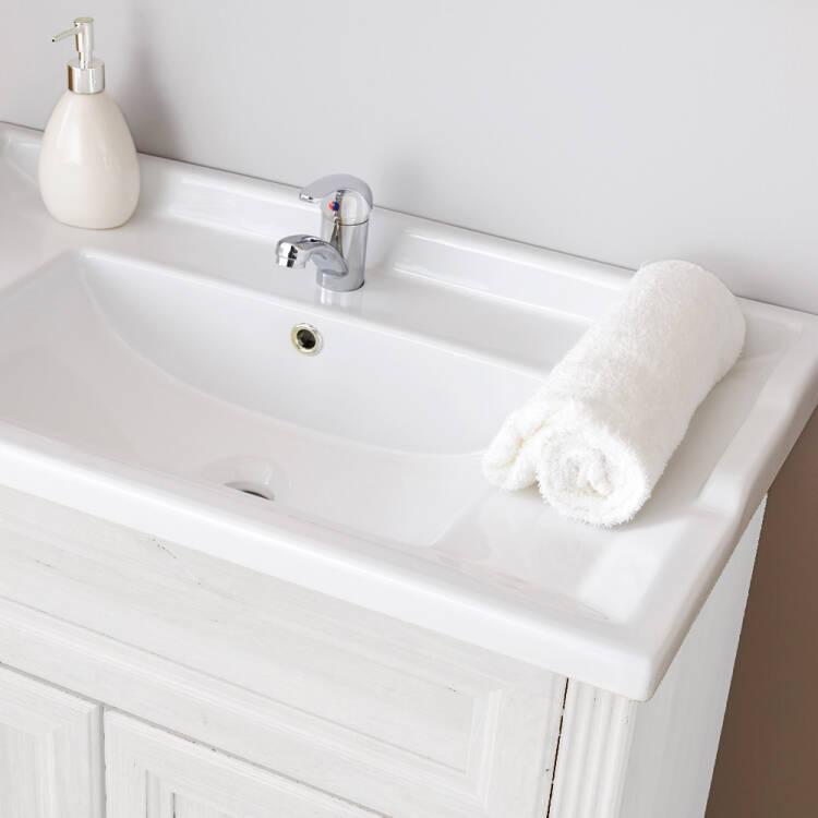 badm bel waschtischunterschrank inkl retro keramik becken. Black Bedroom Furniture Sets. Home Design Ideas