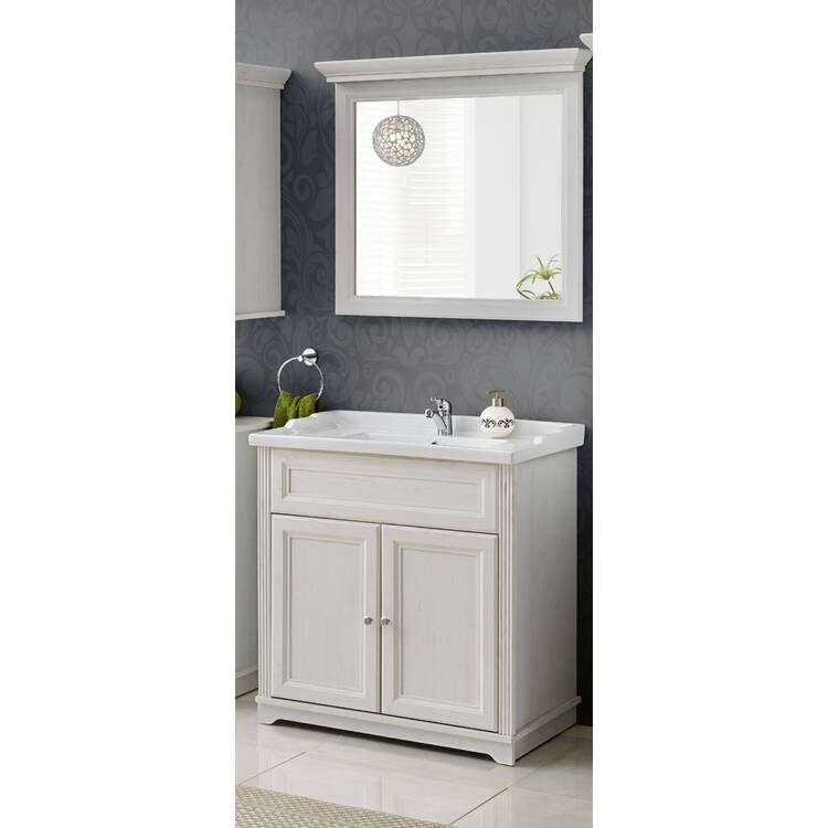 bad m bel waschplatz set 2tlg inkl 80 cm keramik was. Black Bedroom Furniture Sets. Home Design Ideas
