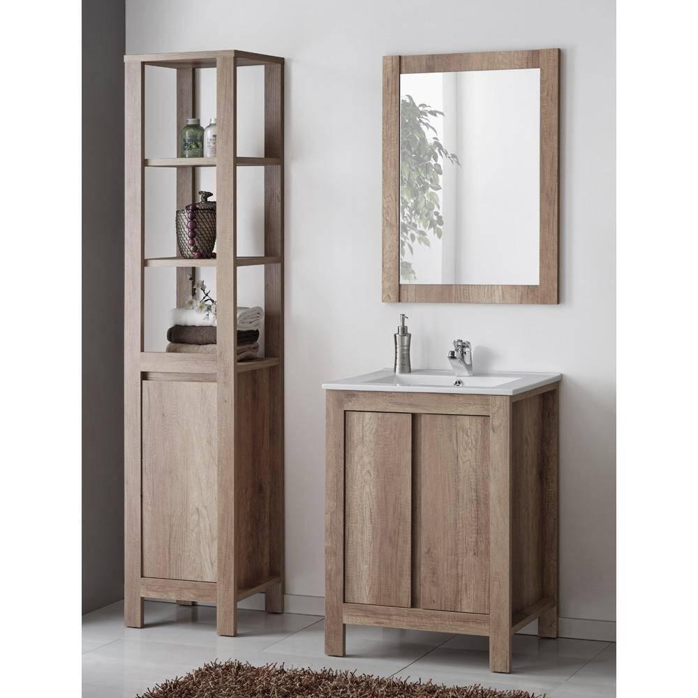 bad m bel set inkl 60cm keramik waschbecken country. Black Bedroom Furniture Sets. Home Design Ideas