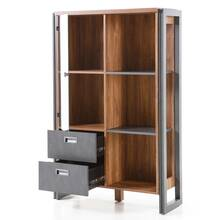 Highboard DALLAS-61 im Industrial Stil in Stirling Oak...