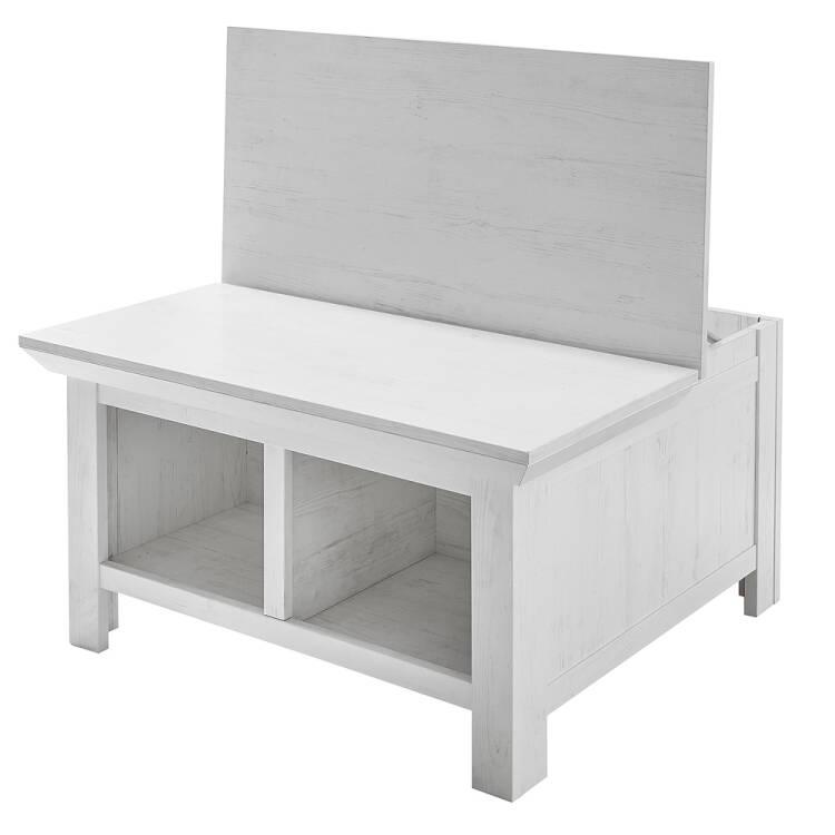 Favorit Couchtisch WINGST-61 Truhen-Tisch im Landhaus Stil Dekor Pinie weiß Nb KO55