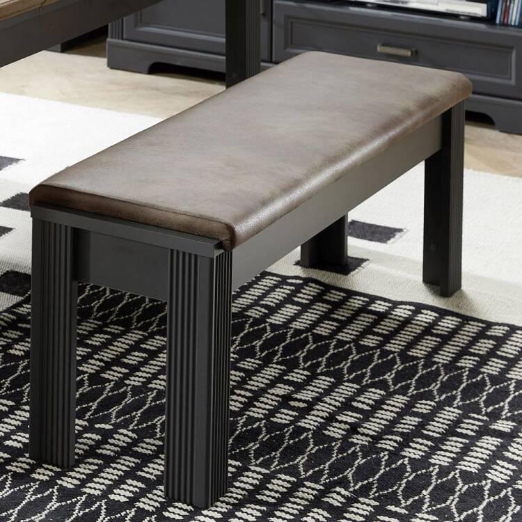 Essplatz Kombination mit Sideboard JÜLICH 36 Dekor Graphit und Deckplatte in Artisan Eiche Nb. Esstisch Bänke